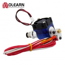 V6 J-head Hotend Extruder Kit With Cooling Fan + Bracket Block + Thermistors + Nozzle