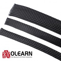 12mm Cable Webbing (flat) Black Wire Cable