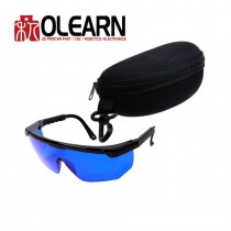 590-690nm Eye Laser protection goggle Blue Color With Box And Cloth